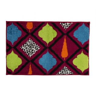 India Circus Blush Assorted Geometry Bathmat