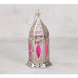 India Circus Blush Window Candle Lantern