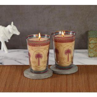 India Circus Blushed Palmeria Candle Votive