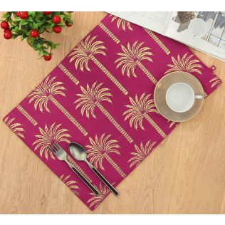 India Circus Blushed Palmeria Table Mat