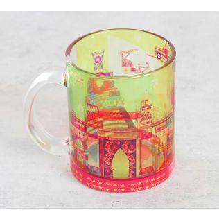 India Circus Bombay Dramatics Glass Coffee Mug