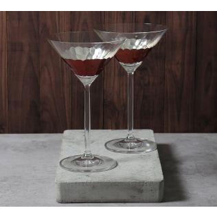 India Circus Bronze Honeycomb Martini Glass (Set of 2)