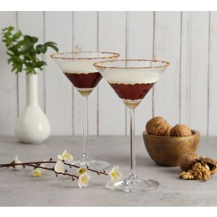 India Circus Bronze Honeycomb Martini Glass (Set of 2)