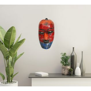 India Circus Cardinal Nymph Decorative Wooden Mask