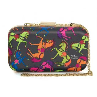 India Circus Carousel Horse Clutch