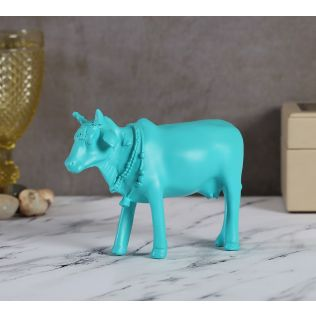 India Circus Cerulean Cow Figurine