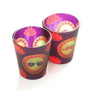 India Circus C'est La Vie Frosted Shot Glasses (Set of 2)