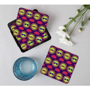 India Circus C'est La Vie MDF Table Coaster (Set of 6)