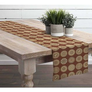 India Circus Chakra Motifs Table & Bed Runner