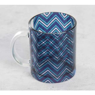 India Circus Chevron Alba Glass Coffee Mug
