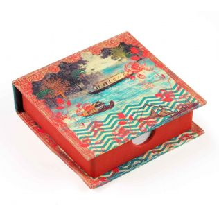 India Circus Chevron Backwaters Memo Pad Box
