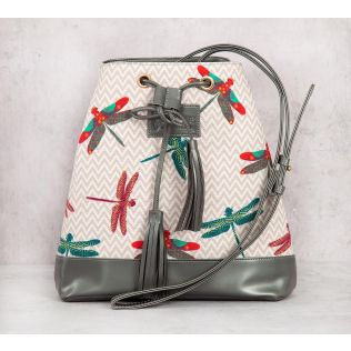 India Circus Chevron Butterflies Hobo Bag