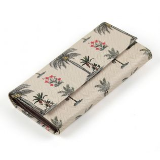 India Circus Chevron Palms Ladies Wallet