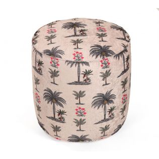 India Circus Chevron Palms Pouffe