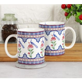 India Circus Chevron Perching Peacock Coffee Mug