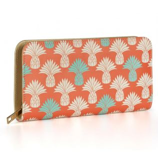 India Circus Colour Block Pineapple Ladies Zipper Wallet