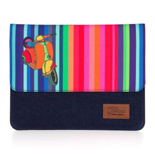 India Circus Colour Pop Scooter Denim iPad Sleeve