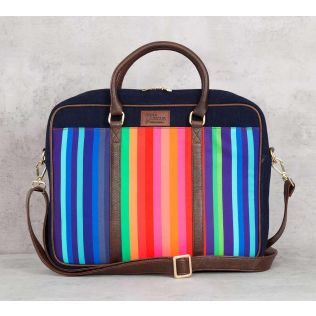 India Circus Colour Pop Scooter Denim Laptop Bag