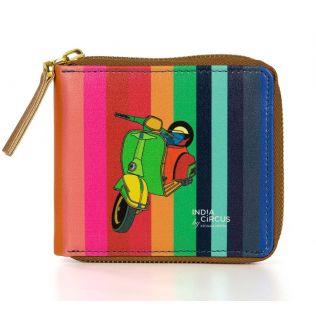 India Circus Colour Pop Scooter Zipper Wallet