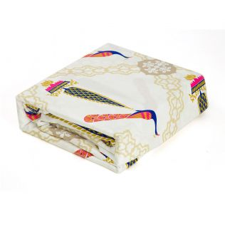 India Circus Conifer Peacock Bed Sheet Set