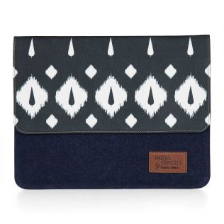 India Circus Conifer Symmetry Denim iPad Sleeve