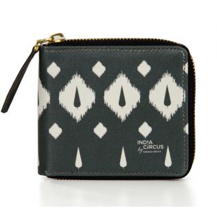 India Circus Conifer Symmetry Zipper Wallet