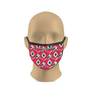 India Circus Crimson Madan's Parrots Protective Face Masks for Kids