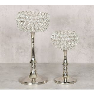 India Circus Crystal Candle Holder Set of 2
