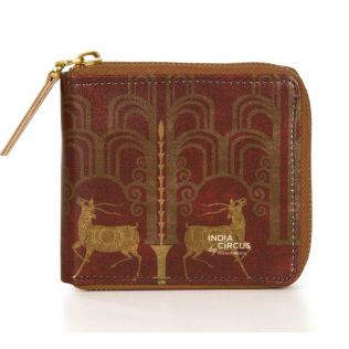 India Circus Deer Dwar Zipper Wallet