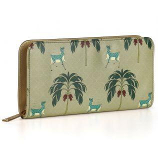 India Circus Deer Park Ladies Zipper Wallet