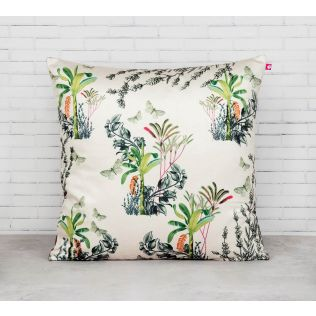 India Circus Desert Plants Blended Velvet Cushion Cover