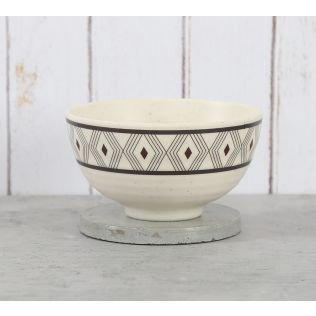 India Circus Diamond Motifs Soup Bowl