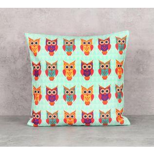 India Circus Disco Hedwig Canvas Blend 16 x 16 Cushion Cover
