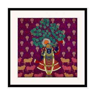 India Circus Divine Harmony Framed Wall Art