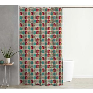 India Circus Doorframe Story Shower Curtain