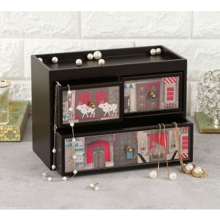 India Circus Doors of Mystical Wonder Chest of Drawer