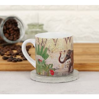 India Circus Elephants of Mathura Espresso Mug