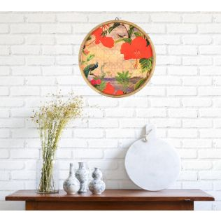 India Circus Entrancing Forestry Decor Plate