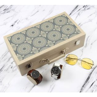 India Circus Ethnic Circles Leather Watch and Eyewear Box