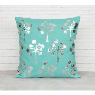India Circus Exotic Palm Foil Cushion Cover
