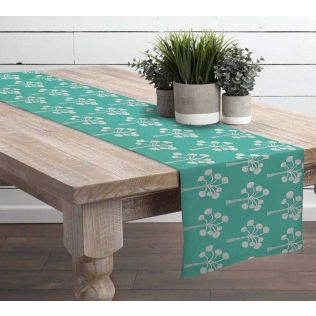 India Circus Exotic Palm Table and Bed Runner