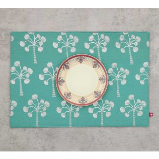 India Circus Exotic Palm Table Mat
