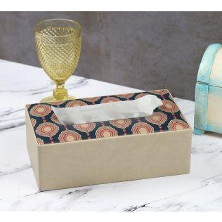 India Circus Fauna Darbar Leather Tissue Box Holder