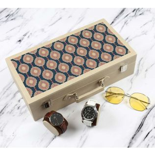 India Circus Fauna Darbar Leather Watch and Eyewear Box