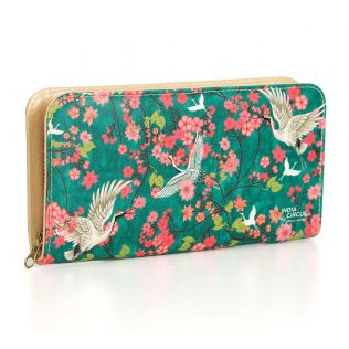 India Circus Flight of Cranes Ladies Zipper Wallet