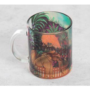 India Circus Floors of Flourish Glass Coffee Mug