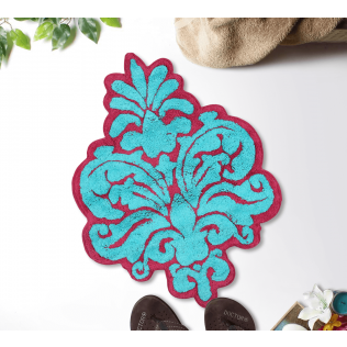 India Circus Floral Blossom Shape Bath Mat