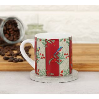 India Circus Floral Congregation Espresso Mug