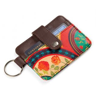 India Circus Floral Embroidery Keychain Card Holder