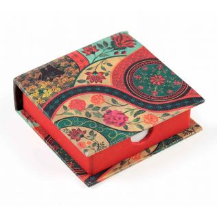 India Circus Floral Embroidery Memo Pad Box